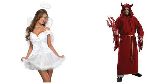 Angel and Devil couple costume idea