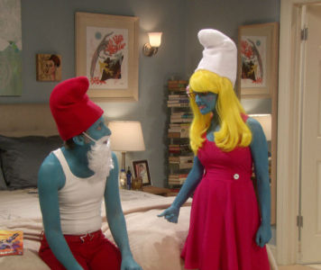 Big Bang Theory Smurfs costumes 2012