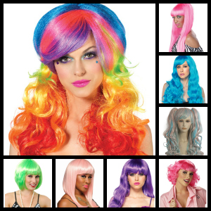 candy colored wigs