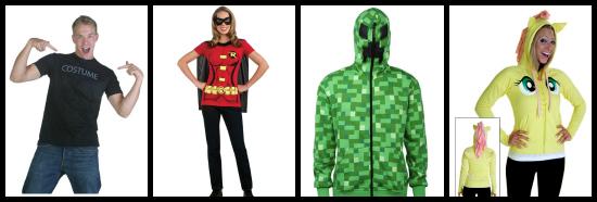 Costume t-shirts and costume hoodies