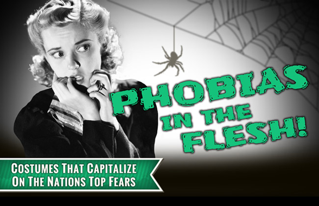 Phobias in the Flesh Infographic by HalloweenCostumes.com
