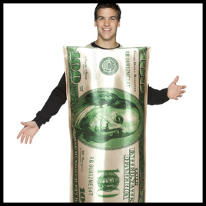 hundred dollar bill costume