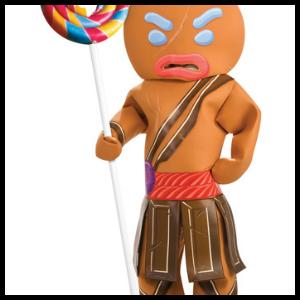 gingerbread warrior costume