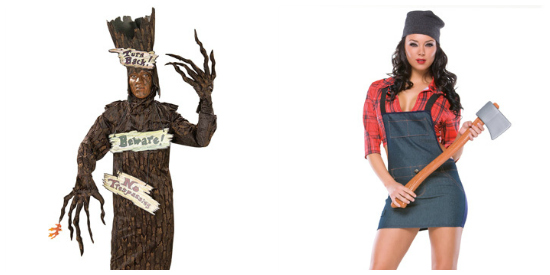 Lumberjack couple costume idea