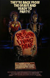 return of the living dead movie poster
