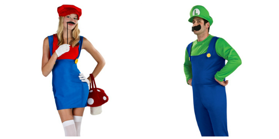 Mario and Luigi couple costume idea