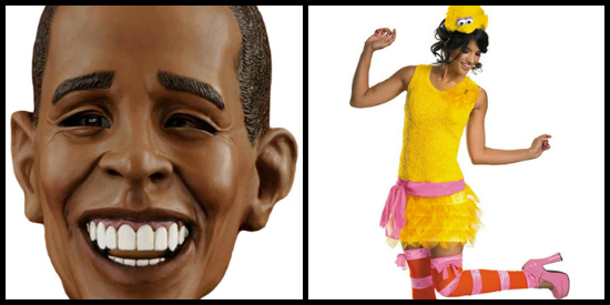 obama and big bird couples costume
