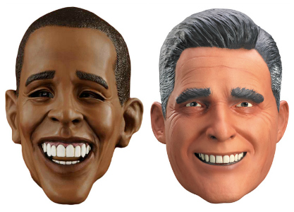 Political Masks couples costume