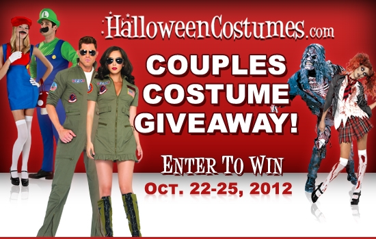 Couples costume giveaway from HalloweenCostumes.com