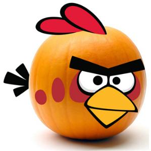 angry bird pumpkin kit