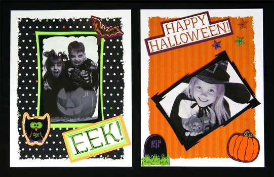 Halloween Scrapbook Pages