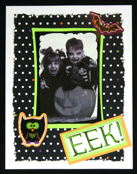 page idea for a Halloween scrapbook