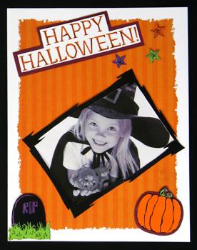 Halloween scrapbook page idea