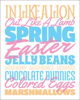 Easter Subway Art Printable