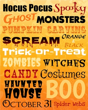 Halloween Subway Art Printable