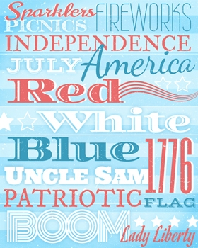 Independence Day Subway Art Printable