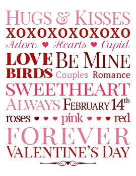 Valentine's Day Subway Art Printable