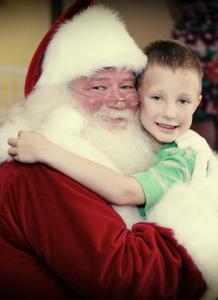 Santa clause at Hope House