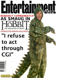 Cracked Hobbit Meme with Dinosaur Costume