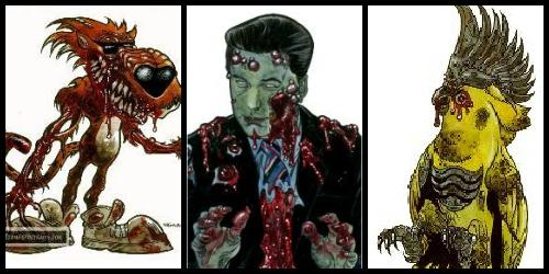 sacchetto zombie portraits