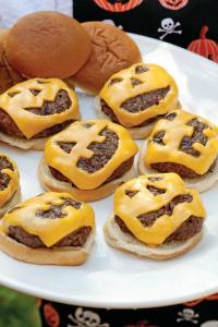 Jack O Lantern Cheeseburgers
