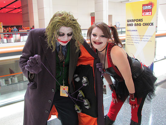 Joker and Harley Quinn from C2E2