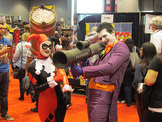 Harley Quinn and The Joker at C2E2
