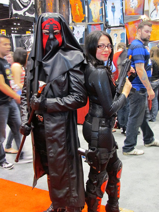 Leather Wearing Duo at C2E2