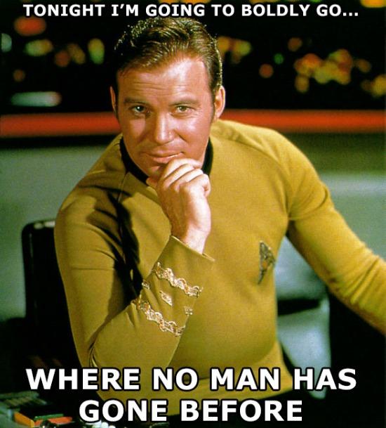 Boldly Go Kirk Meme