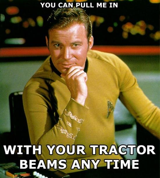 Tractor Beams Kirk Meme