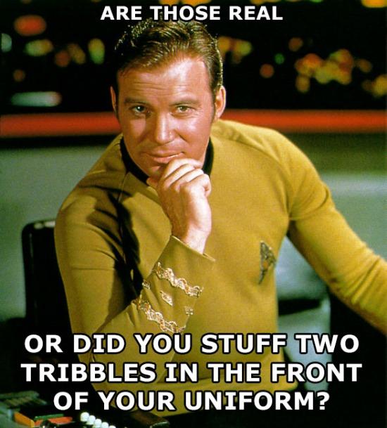 Tribbles Kirk Meme