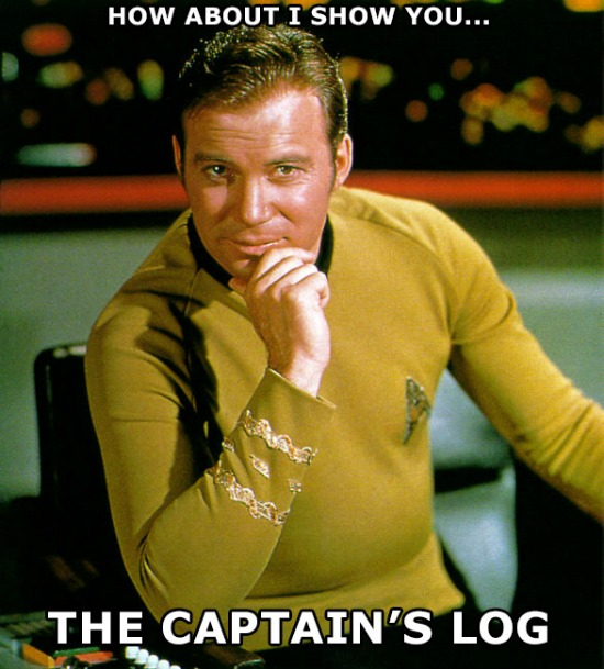 Captain's Log Kirk Meme