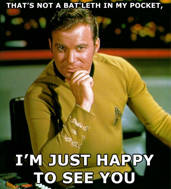 Just Happy to See You Kirk Meme