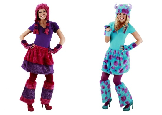 women's monsters inc costume kits