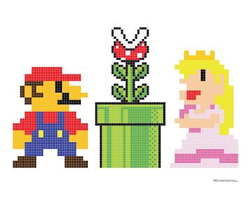 Mario Bros Cross Stitch Pattern