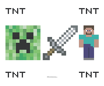 Attractive Minecraft Cross Stitch Pattern