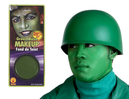 Green Army Man Costume Makeup