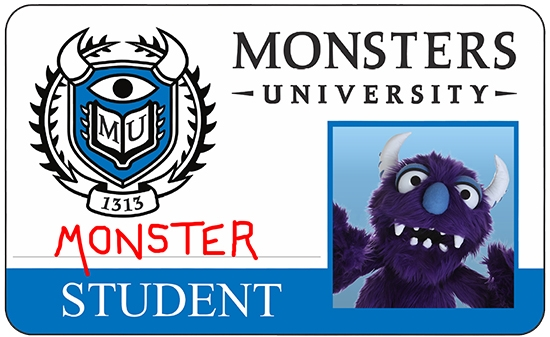 Monster Student ID Card