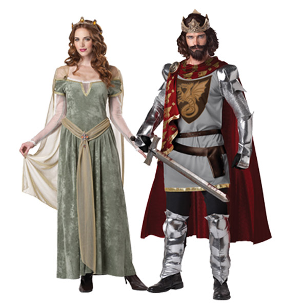King Arthur and Queen Guinevere Costumes
