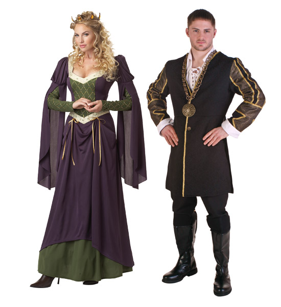 King and Queen Renaissance Costumes