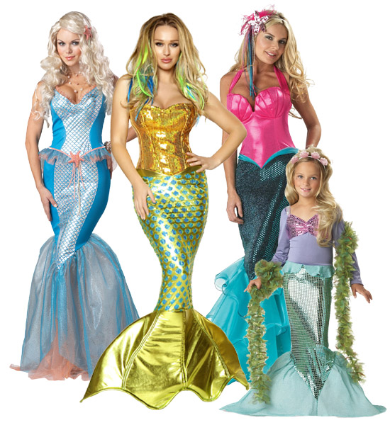 Renaissance Mermaid Group Costume