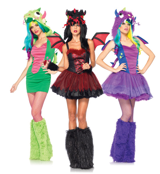 Sexy Dragon Group Costume