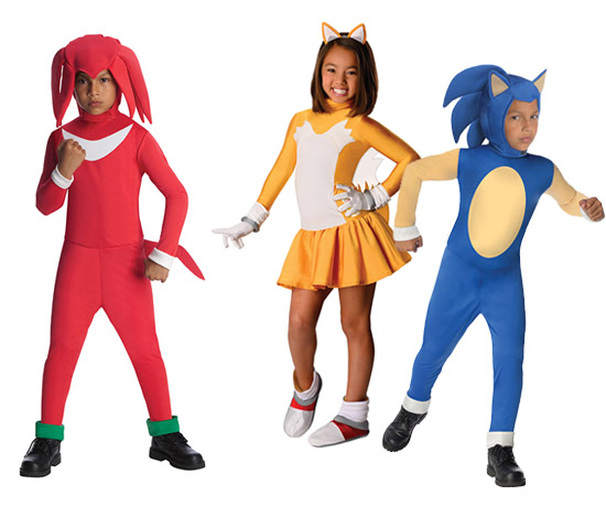 Kids Sonic the Hedgehog Group Costumes