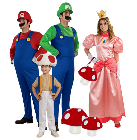 Super Mario Brothers Group Costumes