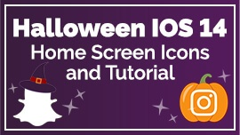 Halloween iOS 14 Home Screen Icons and Tutorial
