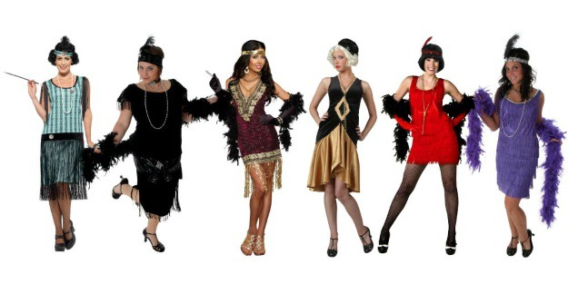 Women's flapper girl costumes