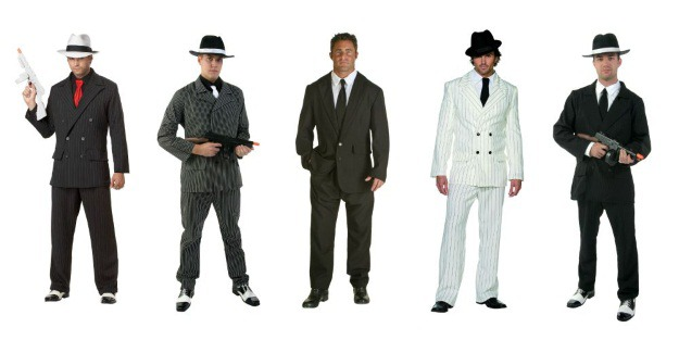 Men's gangster costumes