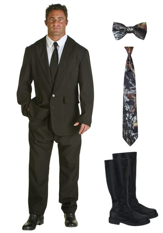 Black Costume Suit Camo Accessories