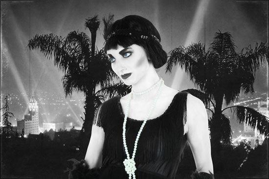 DIY Silent Film Star Flapper Header