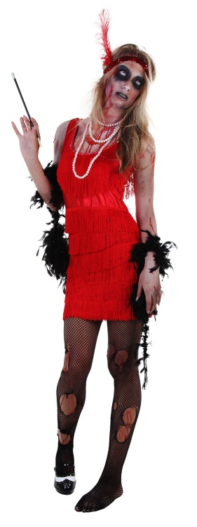 DIY Zombie Flapper Costume